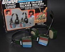 GI Joe Headset Pair of Walkie Talkies in Original Box 2-Way Radio 1983 Hasbro
