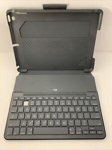 Logitech Slim Folio Bluetooth Keyboard Cover Case Apple iPad 9.7 5th 6th #2