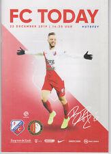 Programme / Programma FC Utrecht v Feyenoord Rotterdam 23-12-2019