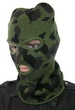 BRITISH ARMY SAS STYLE COMMANDO BALACLAVA HAT in WOODLAND CAMO