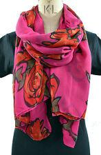 HOT Rosa E Rosso Tatuaggio Rose Primavera lightscarf Scialle Sari Sarong Wrap grandi