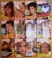 12x BUNTE 1985 Zeitschrift 1980er Promis Adel Schauspieler retro Klatsch Tratsc2