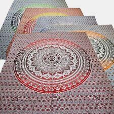 Tagesdecke Bettüberwurf Lotus Flower Dekotuch Indien Wandbehang Goa Hippie Tuch