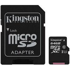 NEUF KINGSTON 64 Go Micro SDXC mémoire CARTE Classe 10 UHS-1 (avec adaptateur) -