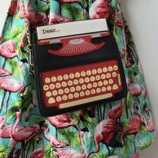 Sac à main original machine à écrire dactylo simili cuir noir rouge pinup rétro