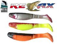 "relax kopyto 4"" (115mm)3 lures. pike,perch,zander,fishing jig head,monster teez"