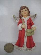 GOEBEL GERMANY HUMMEL CHILD ANGEL RED COAT SINGING BY STREET LAMP POST 2 PIECE