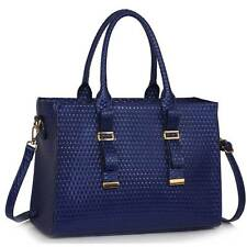 Women's Patent Quilted Bag With Buckle Detail Tote Bags Fashion Handbags A4 310