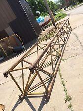 Antique Industrial Sculpture Huge 1940 Cleveland Shipyard Crane Boom truss