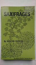 SAXIFRAGES.WINTON HARDING.ALPINE GARDEN SOCIETY GUIDE.S/B 1976,B/W ILLS PHOTOS