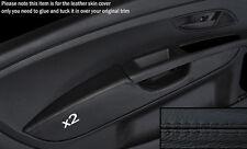 BLACK STITCH 2X FRONT DOOR CARD ARMREST COVER FITS FIAT GRANDE PUNTO 05-11 3DR