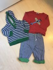 Baby Boden Boys Outfit Pants Tee Sweater Size 6-12 Months Striped