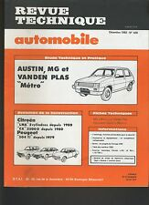 (44B)REVUE TECHNIQUE AUTOMOBILE AUSTIN MG / CITROEN LNA CX / PEUGEOT 504 TI