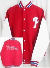Philadelphia Phillies Wool / Polyester Majestic Bomber Jacket Big & Tall Sizes