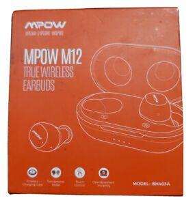 NEW Mpow M12 in-Ear Bluetooth 5.0 USB Waterproof Sports Earphones Bass Sound