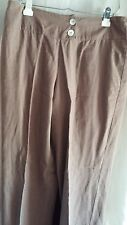 Christopher and Banks Brown Lightweight Two button Wide Waist Front Pants size M
