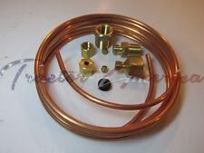 "Oil Pressure Mechanical Gauge Line Kit 1/8"" x 6' Copper Tubing Kit Car Truck"