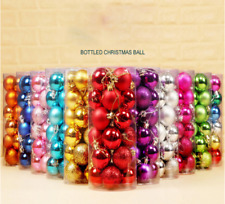 24 Pack 30mm Christmas Xmas Tree Ball Bauble Hanging Home Party Ornament Decor