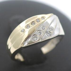 Brillant Ring 585 Gold 14 Kt 0,20 Ct Diamant Bicolor Wert 1050,-