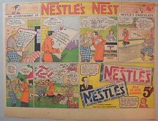 Nestle's Chocolate Bars Ad: Original Paper 1930's-1940's Size = 11 x 15 inches