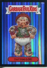 Garbage Pail Kids Chrome Series 2 Black Refractor Parallel 80a TATTOO LOU