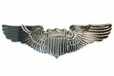 Pilot Wings Aircrew Captains Steward Stewardess Civil or Air Force Metal Badge