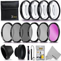 52MM Professional Lens Filter Accessory Kit + ND Filters +Close-up Macro Filters