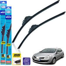 """Renault Clio Hatcback 2005-2012 front wiper blades alca SUPER FLAT 24""""16""""BL"""