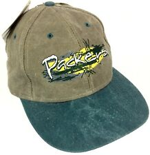 NEW Vintage 90s Green Bay Packers 🏈 Distressed Game Day Snapback Hat/Cap NWT