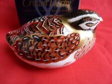Royal Crown Derby, Paperweight, Dappled Quail (Boxed) REDUCED!