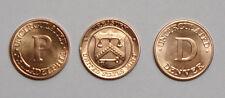 Philadelphia & Denver U.S. Mint Treasury Seal Token Set - L@@K Uncirculated