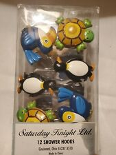New Saturday Knight Jenny Jeff Zoo Turtle Set Of 12 Shower Curtain Hooks