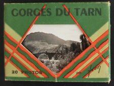 Carnet de 20 mini-photos des Gorges du Tarn