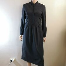 C179 - Stage of Playlord Dark Gray Amish Inspired Long Sleeves Dress