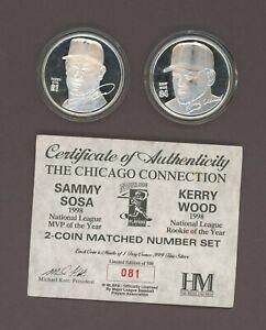 2 Oz Troy Silver Coin .999 Fine Mark McGwire Sammy Sosa Highland Mint /500 Ozt