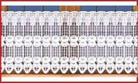 "White Cafe Net Curtain Lace  24"" drop Price Per Metre Interior Decor"