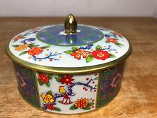 Vintage Tin Made In England Floral Flowers