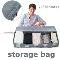 5 Grid Storage Bag Organizer Clothing Box Clothes Non-woven Fabric Foldable DIY