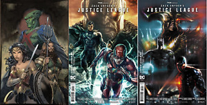 (2021) JUSTICE LEAGUE #59 SNYDER CUT VARIANT COVER SET! Jim Lee! Bermejo! Sharp