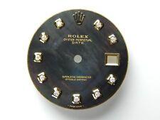 Rolex Men's Date 34mm 2Tone Black MOP Color with Diamond Dial 1500/1501/1503