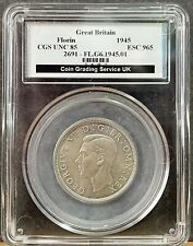 More details for cgs 85 graded 1945 great britain florin / two shillings - george vi