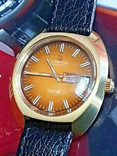NOS Mens Vintage G/Plated CERTINA DS-2 Day Date Turtleback Automatic Wristwatch
