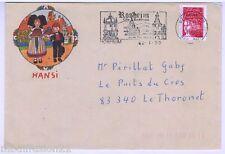 1999 - ENVELOPPE -  HANSI WALTZ J.J**LA RONDE DES ENFANTS - ROSHEIM-ALSACE