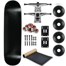 "Moose Complete Skateboard Dip Black 7.0"" With Silver Trucks and Black Wheels"