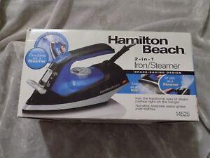 Hamilton Beach 2 in 1 Space Saving Iron 14525 Vertical Steam Nonstick NEW!