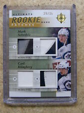11-12 UD Ultimate Duos Patches RC Rookie MARK SCHEIFELE / CARL KLINGBERG /35