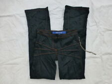 WOMENS OHDD PANTS MADE IN ITALY BLACK 'WRINKLED' SIZE 26 #V153
