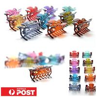 10pc/ 3.5cm Small 7 jaw Hair Claw Styling Clips Hairclip Clamps Multicolour AU