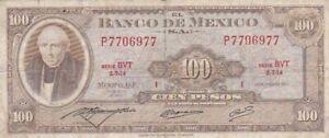 1973 Mexico 100 Pesos Note, Pick 61i