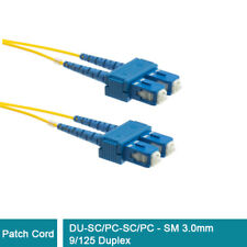 SC/PC to SC/PC Single Mode SM 9/125 Duplex Fiber Optic Patch Cord Cable 3.0mm